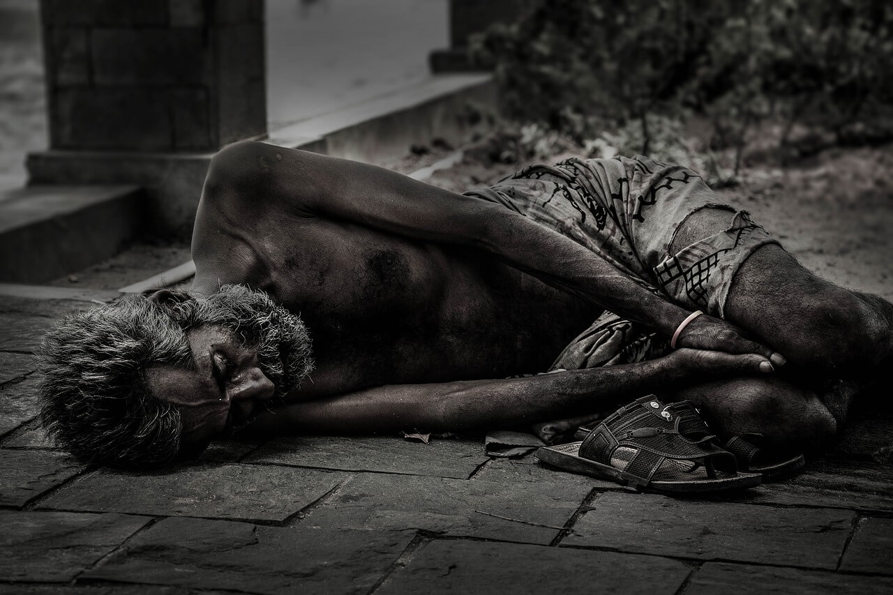 Struck by poverty