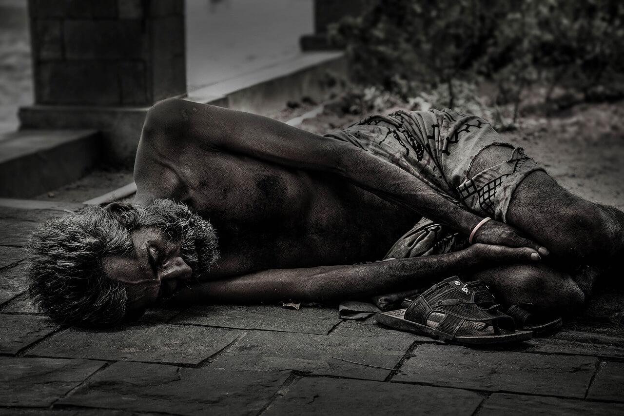 Struck by poverty
